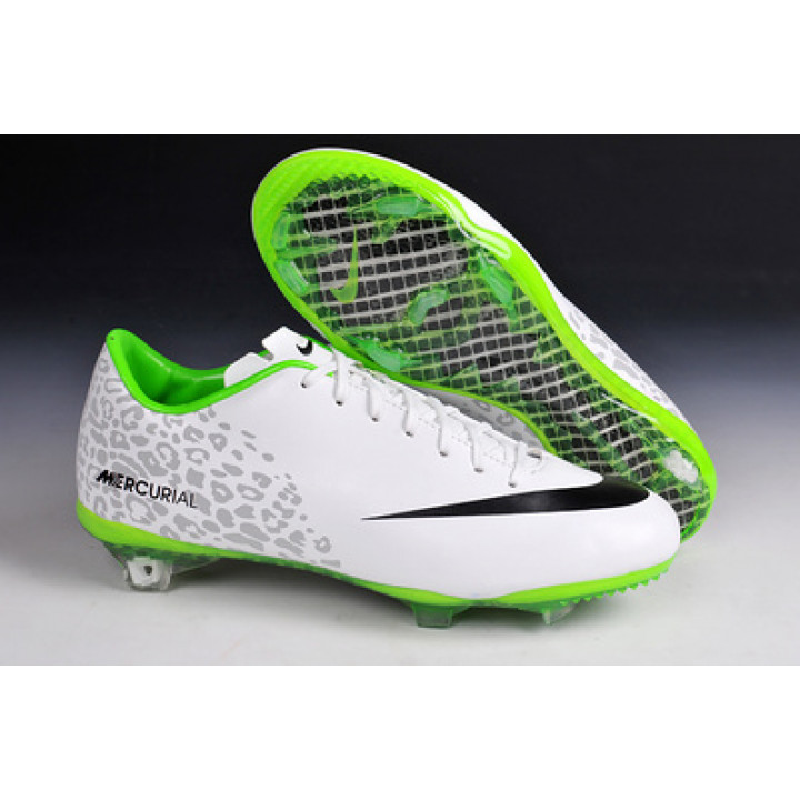 Кроссовки Nike mercurial victory  CR7, белый с черным и зеленым